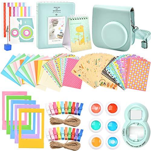 FOCCTS 14 en 1 Accesorios para Cámaras Polaroid,Adecuado para Polaroid Mini 8/9,con Filtro de Color,Marco de Fotos de Calendario de Escritorio,Borsa Fotografica con Tracolla,Carpeta de Fotos,etc