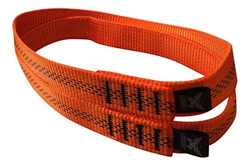 Freedomstrength® Schlaufe für Gymnastikstangen, hergestellt in Großbritannien, Orange, 21 cm