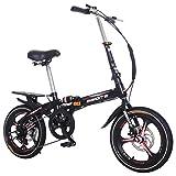 ODJOY-Fan-home 20 Pollici Leggero Mini Bici Pieghevole Piccola Bicicletta Portatile Studente Adulto Ruota...