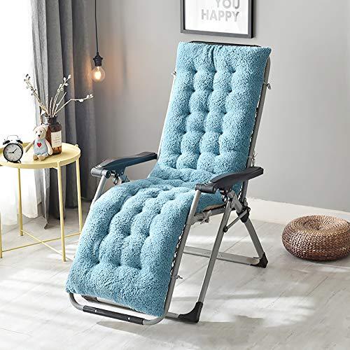 XM&LZ Indoor Plush Rocking Chair Cushion,Thicken Warm Recliner Cushion,Tufted Not-Slip Padded Chair Pads for Sofa Bench Cushion-Blue 160x50x12cm