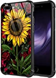 DAHAOGUO iPhone SE 2020 Case,iPhone 8 Case Sunflower Rose Pattern iPhone 7 Cases [Anti-Scratch] Fashion Cute Cover Case for iPhone 7/8/SE2 4.7-inch
