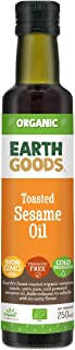 Earth Goods Organic Toasted Sesame Oil 100% Natural; Transfat Free; Cold Pressed; 250ml