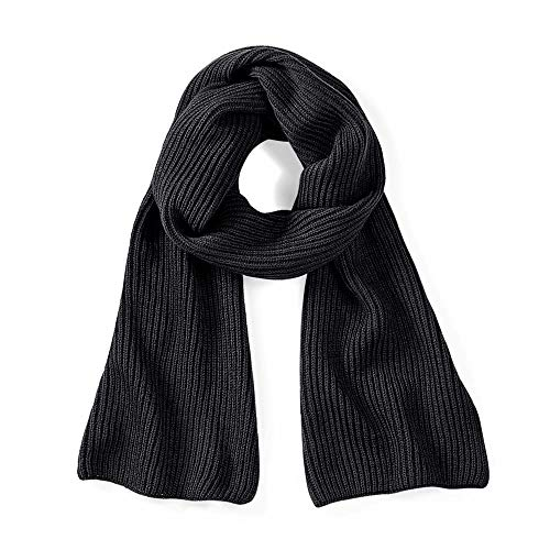 Beechfield B469.BLK Metro Knitted Écharpe Mixte, Noir, Taille Unique