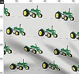 Traktor, Bauernhof, Grün, Vintage Stoffe - Individuell
