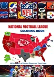 National Football League NFL Coloring Book: 50 Illustrations of Famous Players and Team Logos: NFL 2021