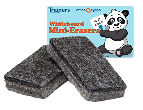 Mini Erasers for Whiteboard Dry-Erase, Set of 30 erasers, 2.5 Long, for Classroom and Office