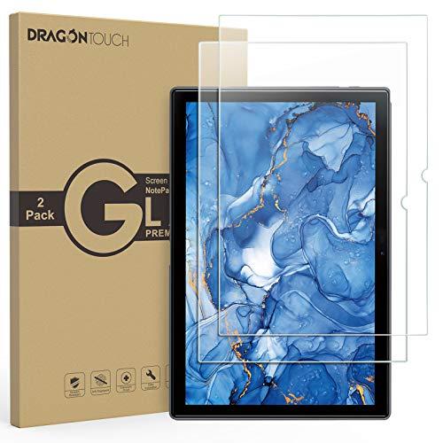 Dragon Touch タブレット Notepad 102専用強化ガラスフィルム 保護フィルム 耐衝撃 耐傷 防汚 防指紋 スムースタッチ クリア 透明 2枚入り