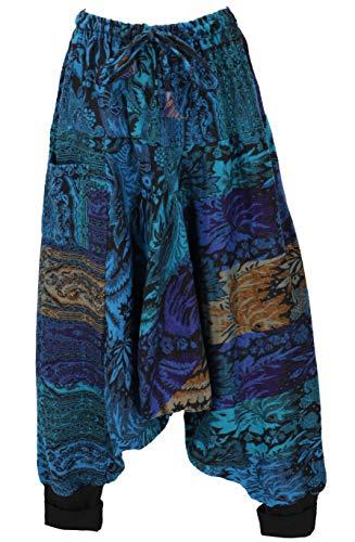Guru-Shop, Pantaloni Harem Soffici, Pantaloni Harem, Bloomers, Pantaloni Aladdin, Turchese, Sintetico, Dimensione Indumenti:40, Harem Pantaloni Aladdin Pantaloni Aladdin