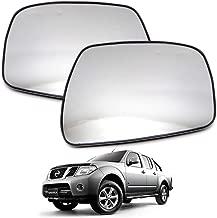 Nonstops Pair Side View Door Mirror Glass Lens for Nissan Frontier Navara D40 2005 2014 Matte Black