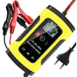 NWOUIIAY Chargeur de Batterie Intelligent Portable 6A / 12V LCD Écran avec Protections Multiples Type de réparation pour Batterie de Voiture Moto