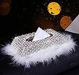 Caja del tejido Perlas de coches tejido de la caja de cristal de diamante de bloques de toallas Cajas de tejidos de tipo sostenedor del papel de cubierta de la caja (color: 1, Nombre de color: el teji