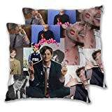 Yuanmeiju Mat-Thew Gray Gubler Throw Pillowcases Set 2 Pcs Pillow Cover Cushion Cover 20'X20'
