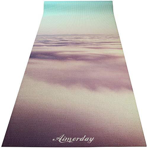 AIMERDAY Premium Printed Yoga Mat 72-Inch Long 1/4