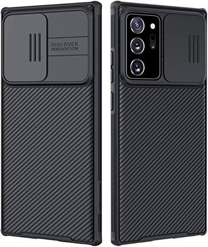 Nillkin CamShield Galaxy Note 20 Ultra Hülle - Einzigartig Hülle mit Kameraschutz & Anti-Rutsch, schlanke Schutzhülle für Samsung Galaxy Note 20 Ultra 6,9 Zoll 2020, schwarz