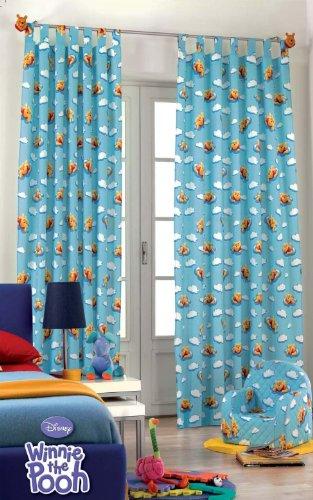 Original Disney Winnie Puuh Pooh&Tiger 1 St.XXL Fertig-Schlaufenschal/Gardine/Vorhang L 290cm x B 140cm Blau NEU Baumwolle 2012