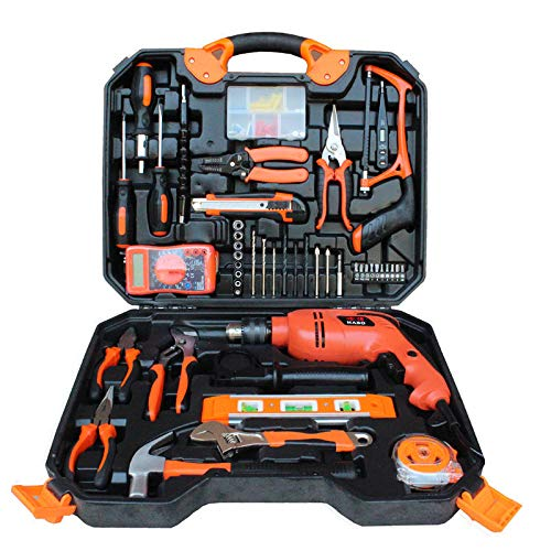 HCCHZR Electric c Drill 120Pcs Electric Impact Drill Woodworking Set Multifunctional Maintenance Tools