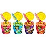SWEET & SOUR GUMMY CANDY: Juicy Drop Dip n Stix is a delicious 2-in-1 sweet and sour gummy candy experience! Dip your sweet gummy stix into the thick sour gel for a new way to create your perfect mix! In a convenient and cool portable cup BACK TO SCH...