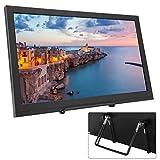 Monitor HDMI de 15,6 pulgadas, monitor portátil de pantalla completa IPS 16: 9 de 1920 x 1080, monitor HDMI doble, pantalla exclusiva para la serie Raspberry Pi, PS3, PS4, X-BOX 360 (Enchufe de la UE)