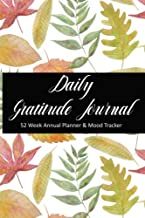 Daily Gratitude Journal - 52 Week Annual Planner and Mood Tracker: Watercolor Autumn Leaves