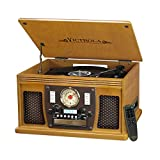 Victrola Navigator 8-in-1 Bluetooth Record Player & Multimedia Center with Built-in Stereo Speakers - 3-Speed Turntable, Vinyl to MP3 Recording | Wireless Music Streaming | Black, 1SFA (VTA-600B-BLK)