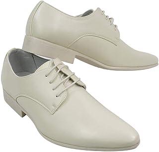 Zapatos de Cuero sintético con Cordones para Caballero en Negro y Azul diseño Italiano