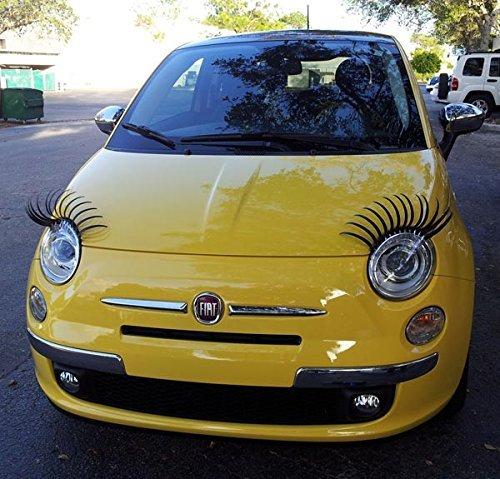 Paar Curly Sexy Wimpern für Autos passend für alle Marken