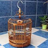 DXIUMZHP Jaula pajaros Jaula para pajaros Jaula De Pájaros De Material Antiguo Hecho A Mano Jaula De Pájaros Gruesa De Tordo De Bambú Jaula De Estornino Accesorios para Jaulas De Pájaros