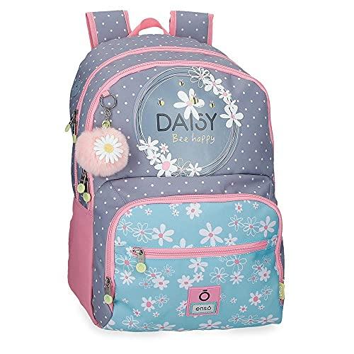 Enso Daisy Mochila Escolar Doble Compartimento Azul 33x43x17 cms Poliéster 24,12L