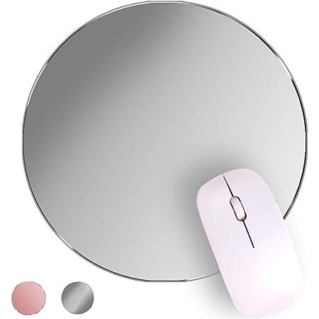 BIGFOX Tappetino Mouse,Doppio Lato(Alluminio e Gomma),Superficie Liscia e Bordi Cuciti,Sottile e Leggero,Impermeabile,Antiscivolo Tappetino Mouse Ottico.