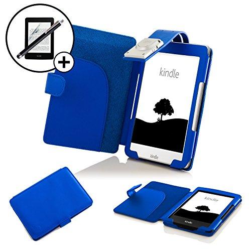 Forefront Cases Kindle 2016 Modelo 8ª Generación Funda Carcasa Caso Case Cover con extraíble LED luz de Lectura – Extra Acolchado y Protección Completa del Dispositivo + Lápiz y Pantalla (Azul)