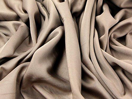 Minerva Crafts Scuba figurbetonter Stretch-Jersey-Kleiderstoff, taupe braun, Meterware