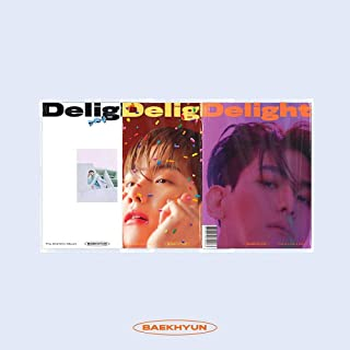 DELight Baekhyun (2nd Mini Album) Random CD + Cover + Booklet + Folded Poster + Postcard + Message Card + Sticker + Photocard