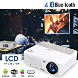2019 Bluetooth Projetor WiFi Android LCD LED Smart Video Projectors Home Theater 3600 Lumens...