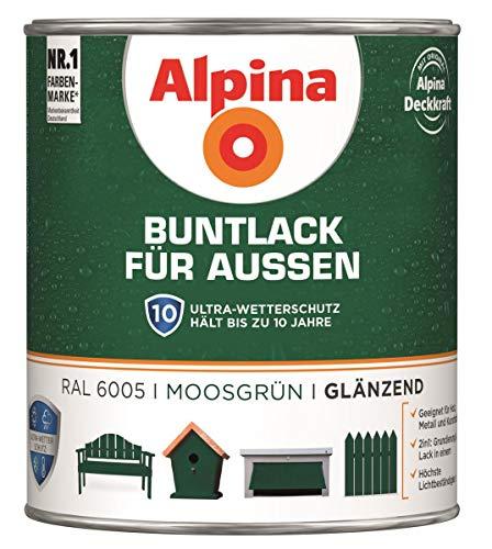 Alpina Buntlack für Außen Moosgrün glänzend 750 ml