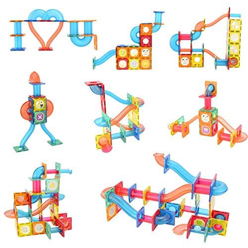 Farbfenster Magnetblech Kugelbahn Bausteine - 88 Stück / 118 Stück - 3D-Magnetfliesen Kugelbahn - Lernspielzeug Lern- Und Kreativitätsgeschenk Für Jungen Und Mädchen Im Alter Von 3 4 5 6 7 8 Jahren