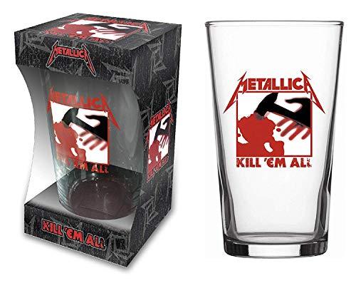 for-collectors-only Metallica Kill 'Em All - Vaso de cerveza (tamaño