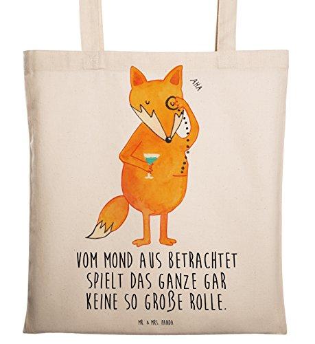 Mr. & Mrs. Panda Beutel, Umhängetasche, Tragetasche Fuchs Lord mit Spruch - Farbe