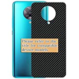 VacFun 2 Piezas Fibra de carbono negra Protector de pantalla Posterior, compatible con Samsung Galaxy S Light Luxury / S8 Lite/S Lite, Película de Trasera (NO es Cristal Templado)