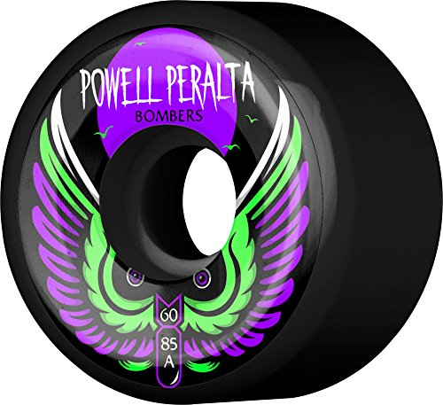 POWELL PERALTA/パウエルペラルタ【BOMBERS 60mm 85A BLACK 4PK】スケートボード WHEEL/ウィール スケボ...