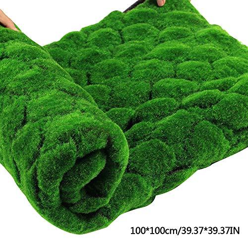 Moosmatte Deko Moos Kunstrasen Matte Rasenteppich Miniatur Garten Puppenhaus Ornament Terrasse Dekoration Künstliche Grasmatte Simulation Rasen (grün Punkt)