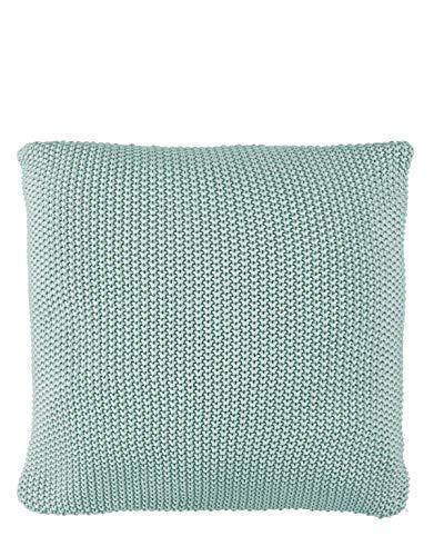 Marc O?Polo Kissen Nordic Knit Soft Green 50x50 cm 100% Bio Baumwolle Zierkissen Dekokissen Wohnzimmerkissen Pillow Dekoration Wohnzimmerverschönerung Sofa Couch Sofakissen