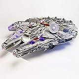 Hima Kit de luz LED para Lego 75192, no incluye el modelo Lego, el kit de iluminación LED de ladrillo compatible con el modelo de bloques de construcción Millennium Falcon