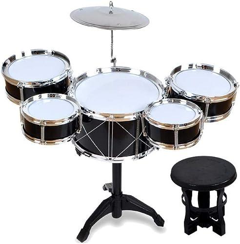 X-Kindertrommel Kinder Drum Toy Puzzle Früherziehung Musikinstrument Baby Toy ZWeißFarben Optional (Farbe   Schwarz