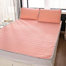 Silky Nano Latex Cool Bed Mattress Cover Washable Summer Bed Sheet Pillowcase Kids Summer Sleeping Bed Mat Set for Adults,...