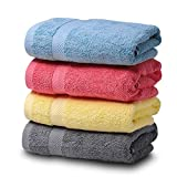 """SEMAXE Premium Cotton Hand Towels for Bathroom, 16""""x 27"""", Luxury Hotel & Spa Towel (Color Mixing, 4 Hand Towel)"""
