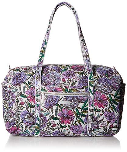Vera Bradley Women's Signature Cotton Large Travel Duffel Travel Bag, Lavender Meadow, One Size
