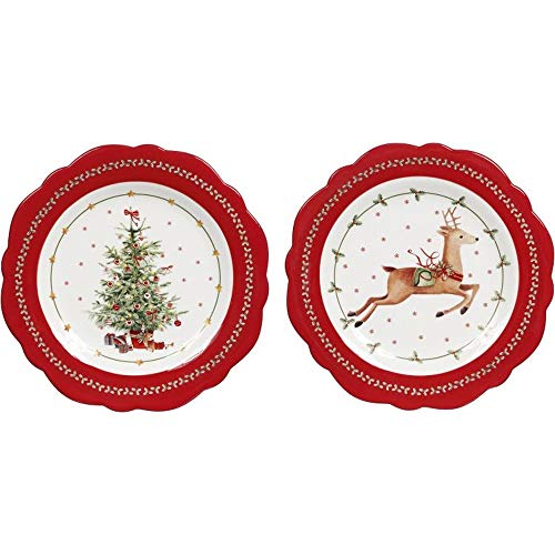 Mark Roberts 2020 Collection Round Plate Christmas Tree 10-Inch Assortment of 2