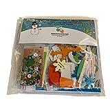 Kit de fabrication de cartes Noël Bonhomme de neige pour 4–cartes avec enveloppes • décorations de cartes, Papiers et formes