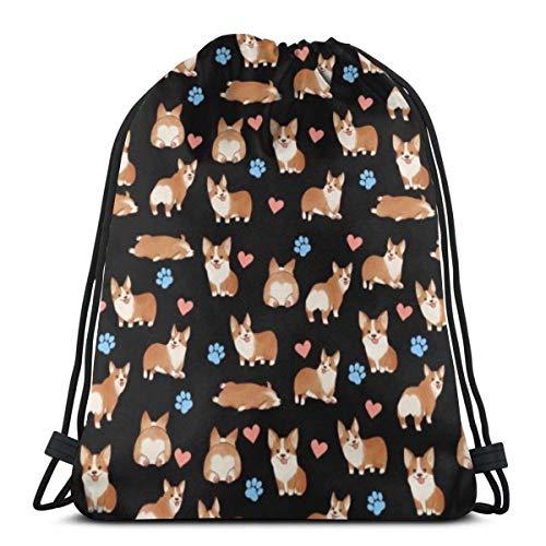 Mochila multicolor con cordón para perro, mochila para gimnasio, deporte, playa, regalo para hombres y mujeres