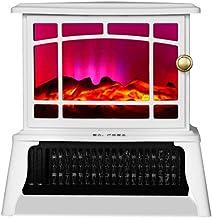 YLJYJ Estufa eléctrica portátil Independiente, calefacción infrarroja de 1500 vatios con Efectos de Llama 3D (250 * 163 * 257 mm)